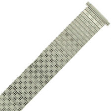 18mm-20mm Watch Band Expansion Metal Stretch Silver Color Thin Line fits Men