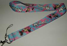 MOBILE PHONE/IDENTITY CARD LANYARD NECK STRAP PINK & BLUE MINNIE MOUSE