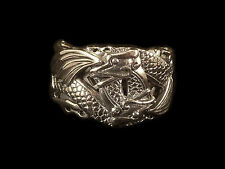Sterling Silver Double Dragon RIng