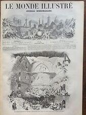 LE MONDE ILLUSTRE 1857 N 34 ECROULEMENT DU PAVILLON DE VINCENNES