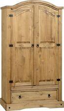 Seconique CORONA 2 Door 1 Drawer Wardrobe - Distressed Waxed Pine Whw112dwp