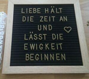 Letterboard Buchstabentafel inkl. Buchstaben weiß und gold