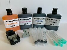 HP62 62XL INK Cartridge REFILL KIT Envy 5540 5541 5542  5543 5544 Black & Colour