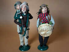 Byers Choice Bob Cratchit, Tiny Tim and Tree Trimmer, 1990s