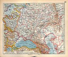 Union Soviétique URSS Russie d'Europe Mer Noire  1:15 000 000 MAP CARTE 1938