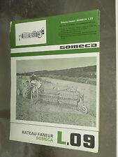 Prospectus Tracteur SOMECA Rateau L 09 1964 tractor Prospekt traktor brochure