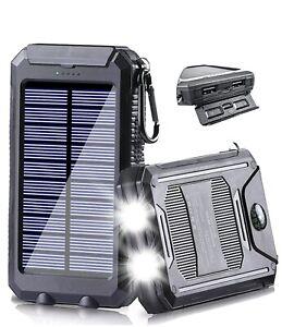 2021 Super Waterproof Solar Power Bank 900000mAh Portable External Charger