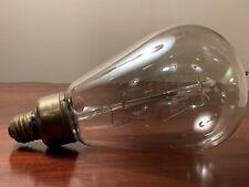Antique 1910s EDISON MAZDA TUNGSTEN FILAMENT Lightbulb