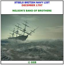 STEELS BRITISH NAVY LIST DECEMBER 1797 CD ROM