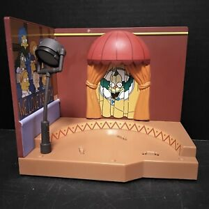 2000 WOS SIMPSONS WE LOVE KRUSTY THE CLOWN STAGE INTERACTIVE PLAYSET -NOT TESTED