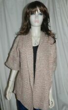 Atmosphere Rose Pink Chunky Knitted Thick Long Cardigan size 10 NEW RRP £12