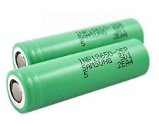 Samsung 25R 2500 mAh 18650 Li-ion Batería Recargable - 2 Paquete Deal, libre del Reino Unido