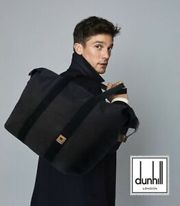AUTHENTIC DUNHILL WATERPROOF FOLDABLE TOTE SHOPPER BAG AND POUCH PURSE POCHETTE