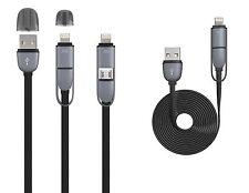 2in1 Micro USB lightning Ladekabel Ladegerät für iPhone 6 iPhone 5 Samsung Black