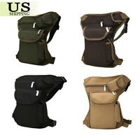 Tactical Outdoor Military Drop Leg Bag Thigh Panel Utility Waist Belt Pouch Bag