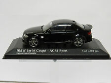 BMW 1 M Coupé - ACS1 Sport Black Metallic 1/43 Minichamps 410020041