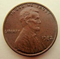 1982 Lincoln Memorial Cent Red Copper Penny No Mint Mark 3.1g Weight Great Cond