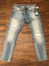 True Religion, Gr. 28, Low Rise Relaxed Skinny- Bleached Destroyed