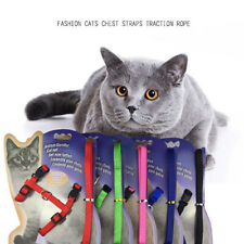KE_ Nylon Pet Lead Leash Harness Kitten Belt Strap Safety Rope Adjust Dog Coll