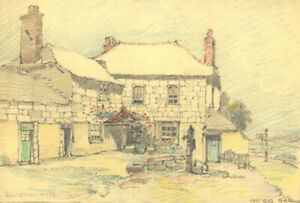 George William Collins (1863-1949) - 1939 Crayon, Walse Town Hotel