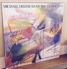 Michael Heizer Geometric Extraction Print Los Angeles 1984 Professional Mount