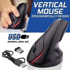 5D ergonomique sans fil 2.4GHz 2400 DPI USB verticale souris optique à molette M