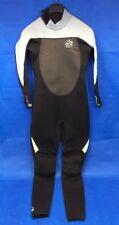 Billabong Womens Long Wet Suit Black Foil 3X2 FlatLock Sz 8 US Superflex 50