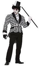 Adulto Uomo Frac Da Giullare Arlecchino Costume Halloween Costume