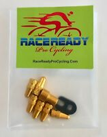 RACE READY Snap Top Container ..Yellow... 2 Presta Valve Core Removal Tools...