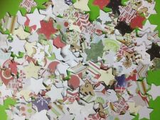 100 SMALL PAPER STAR CHRISTMAS CARD MAKING CRAFT EMBELLISHMENTS CLEARANCE