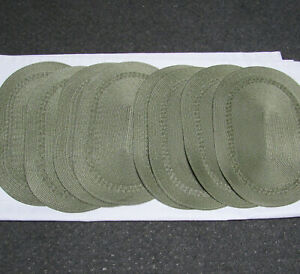 """Vintage Green Woven Placemats Oval 18.5"""" x 13"""""""