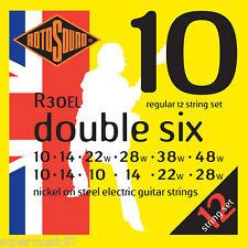 Rotosound R30EL double six 12 cordes cordes pour guitare électrique 10-48 - regular