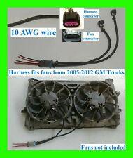 Silverado Sierra GM Dual Cooling Fan Harness + Pigtail 05-12 Fans Chevy LS1 LSX