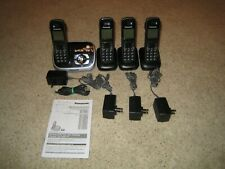 Panasonic Model KX-TG6531B 6.0 Plus Cordless Phone Answering System - 4 Handsets