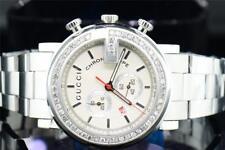 "Mens Diamond Gucci YA101339 Custom ""G"" Face Chronograph White MOP Face 1.90 CT."