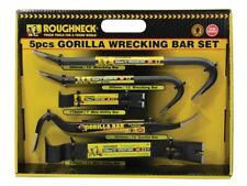 Heavy Duty 5pc Roughneck Gorilla Wrecking Bar Pry Bar Crowbar Set Kit ROU64961DB