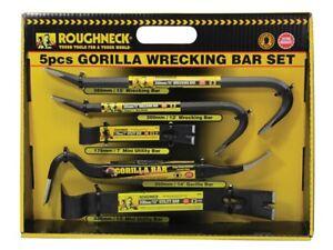 Heavy Duty 5pc Roughneck Gorilla Wrecking Bar Pry Bar Crowbar Set Kit ROU64961DB
