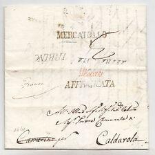 Y775-STATO PONTIFICIO-PREF.MERCATELLO X CALDAROLA 1841