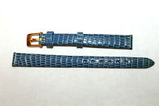 Band Strap Blue Textured Gold Plaque Buckle Ladies Van Cleef & Arpels 10mm Watch