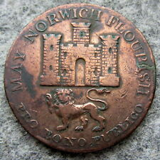GREAT BRITAIN NORFOLK & NORWICH 1792 MAY NORWICH FLOURISH HALFPENNY TOKEN