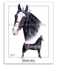 Tennessee Walker walking Horse Art - Merry Boy famous stallion equine portrait