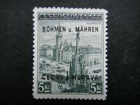 Germany Nazi 1939 Stamp MNH Tested Signed Overprint Olomouc B&M WWII Third Reich