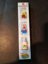 LEGO 851854-1 SpongeBob Patrik Mr. Krabs Minifigure Nickelodeon Magnet Lot Set