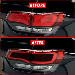 FOR 14-21 Jeep Grand Cherokee Center Tail Light SMOKE Precut Vinyl Tint Overlays