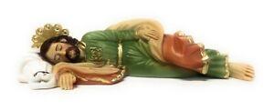Statua San Giuseppe dormiente in resina cm. 20 Made In Italy