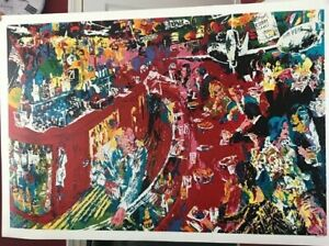LeRoy Neiman, 21 Club, Poster plate signed Lithograph