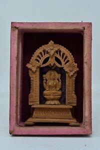 Antique Original Hand Carved Wooden Goddess Laxmi Idol Figurine Hanging NH6674