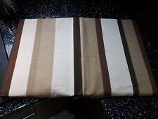"BEIGE / BISCUIT STRIPE 3"" TAPE PAIR OF CURTAINS"