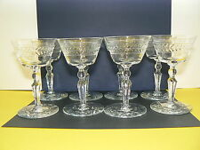 "8 Rock Sharpe Crystal Jefferson Liquor Cocktail 4 3/4"" EUC"