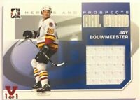 2009-10 ITG Heroes & Prospects AHL Grad Jersey Jay Bouwmeester Vault Red 1/1